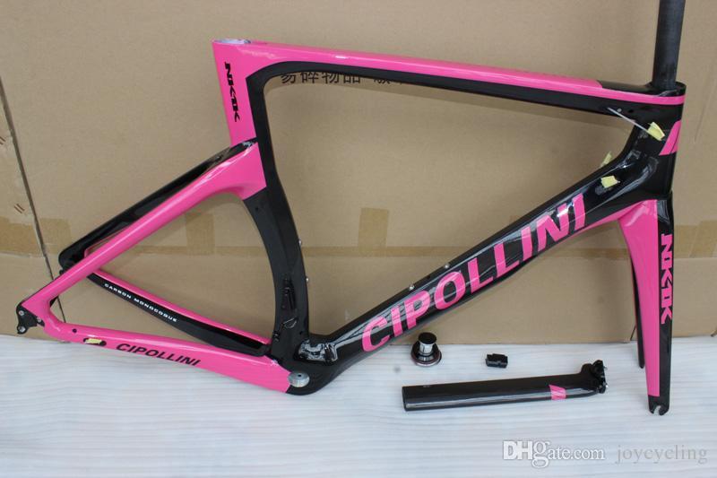 Para As Mulheres Rosa-Preto T1000 3 K 1 K NK1K quadros de bicicleta de estrada de carbono com BB30 BB68 Cipollini bicicleta de estrada quadros de carbono frete grátis