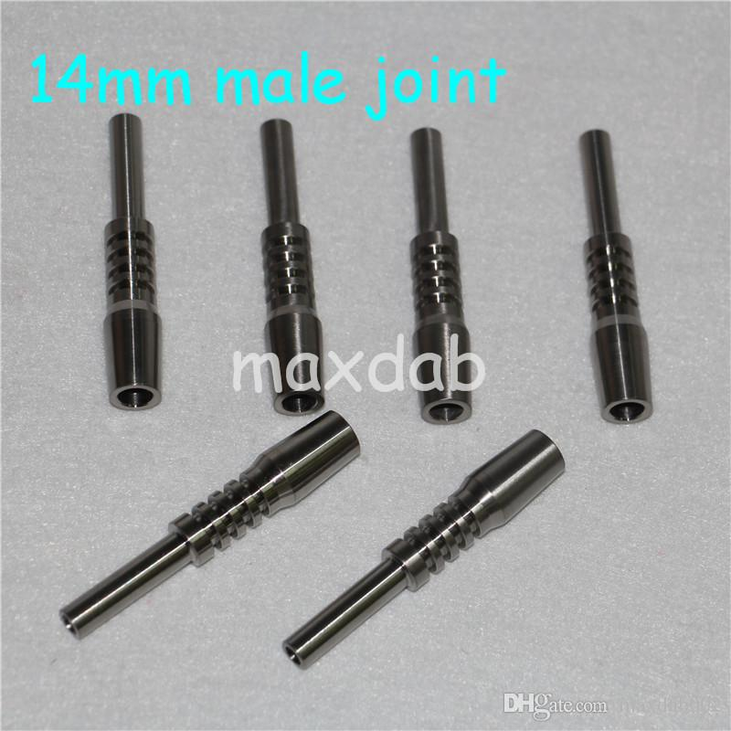 El Aletleri Son Cam Bong Nargile Clipper GR 2 Titanyum Domeless 14mm Elektrikli Tırnak Mini Kitleri