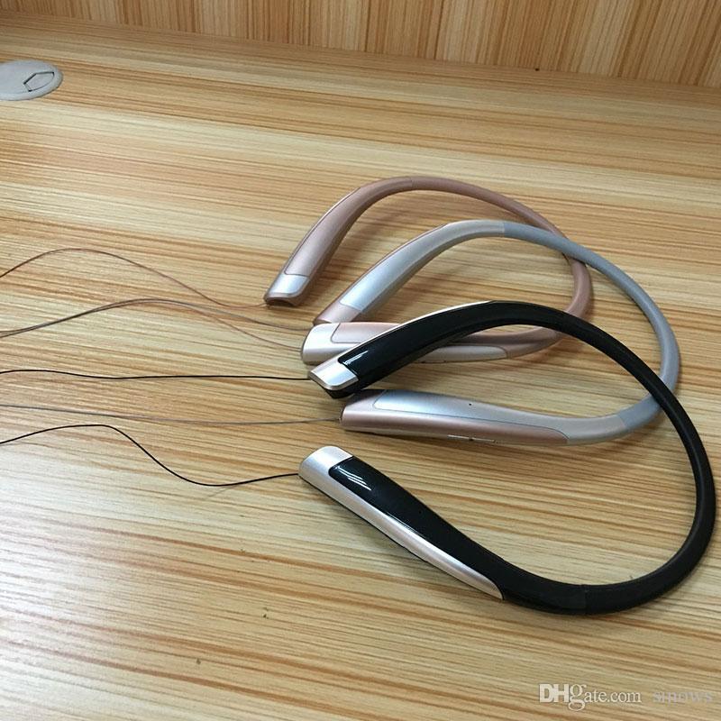 LG iphone7 7plus S7을위한 마이크 헤드폰 HBS1100 HX1100 HBS1100 블루투스 무선 헤드셋 CSR4.1 넥 밴드 스포츠 이어폰