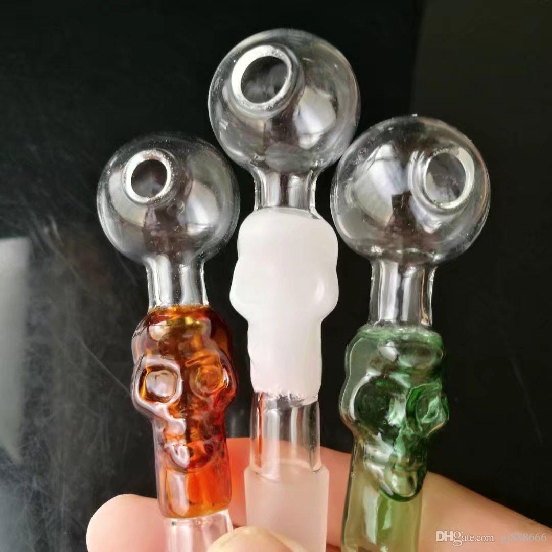 Renk kemikleri düz pot cam bongs aksesuarları, Cam Sigara Borular renkli mini çok renkli El Boruları En İyi Kaşık glas