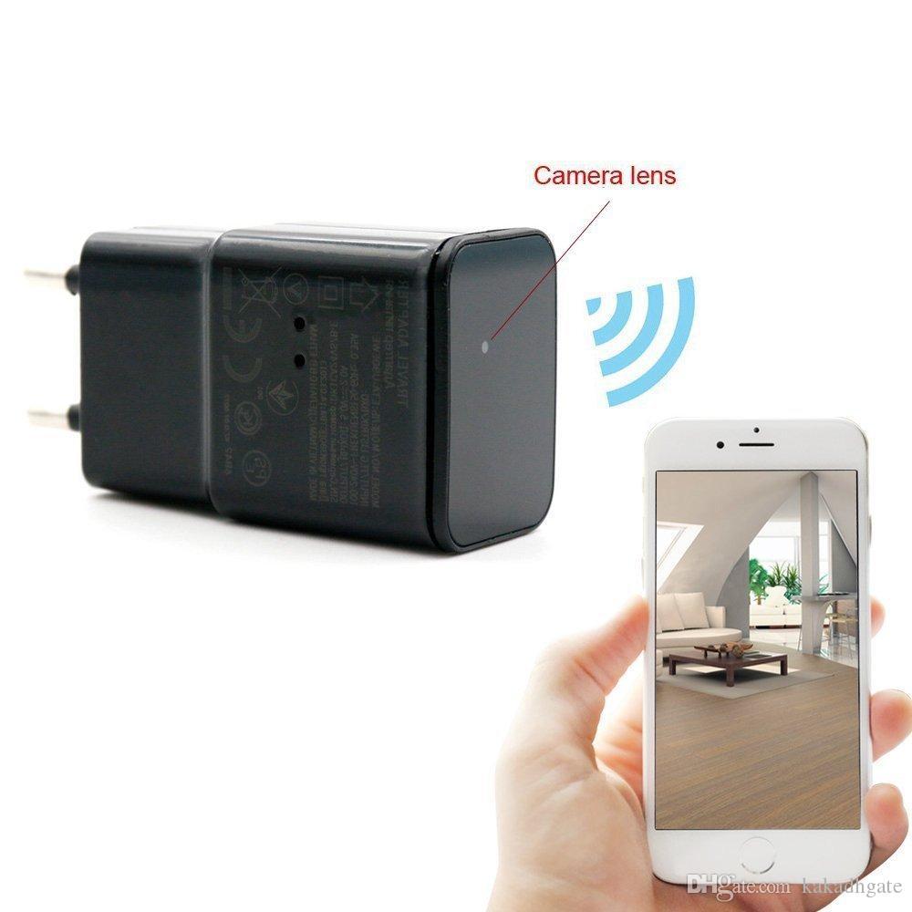 New Hd 1080p P2p Wifi Hidden Camera Adapter Wall Ac Plug Charger ...