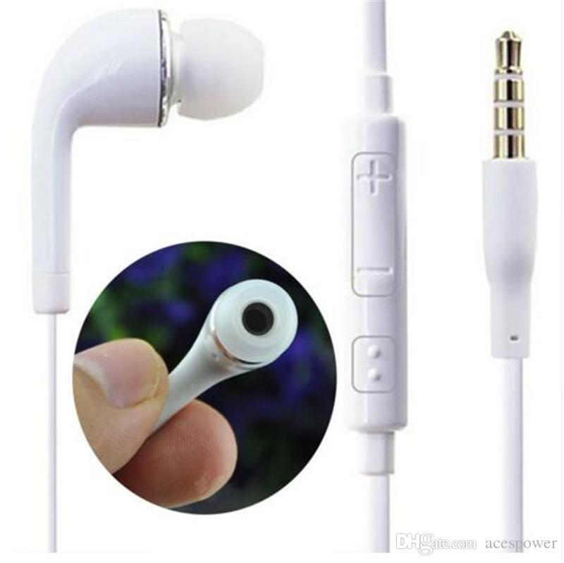 Kopfhörer mit Mikrofon für Samsung Galaxy S7 S6 S4 J5 N7100 Kopfhörer In-Ear-PVC-Handy-Freisprecheinrichtung Mikrofon kein Paket