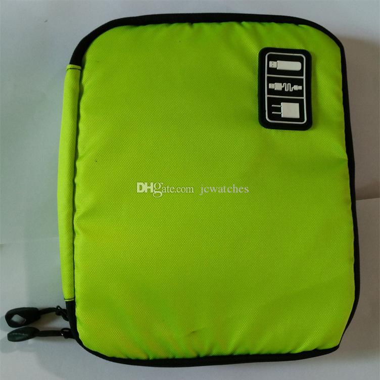 Sac de rangement 6 couleurs pour périphériques de gadget numérique Câble USB Ecouteur pour stylo Sac de voyage Organisateur