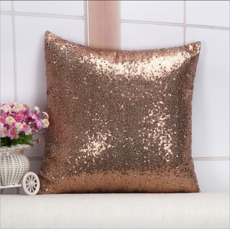 Квадратные блестки подушки для подушки чехол подушки сплошной цветной наволочки крышка блесток гламур бросить подушку для домашнего дивана 40см * 40см