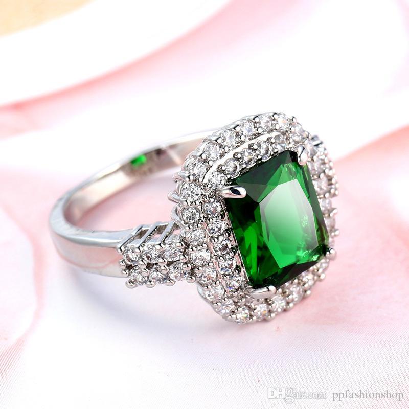 Biżuteria moda, Europa i Stany Zjednoczone Pani cyrkon, kreatywne szmaragdes retro biżuteria, pierścionki, wisiorki, biżuteria hurtowa