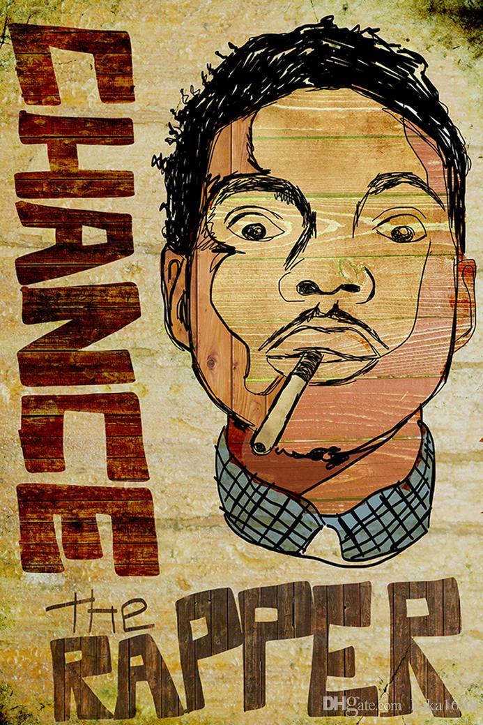 e26dbdda75ea Compre Chance El Póster Rapper Acid Rap Fabric