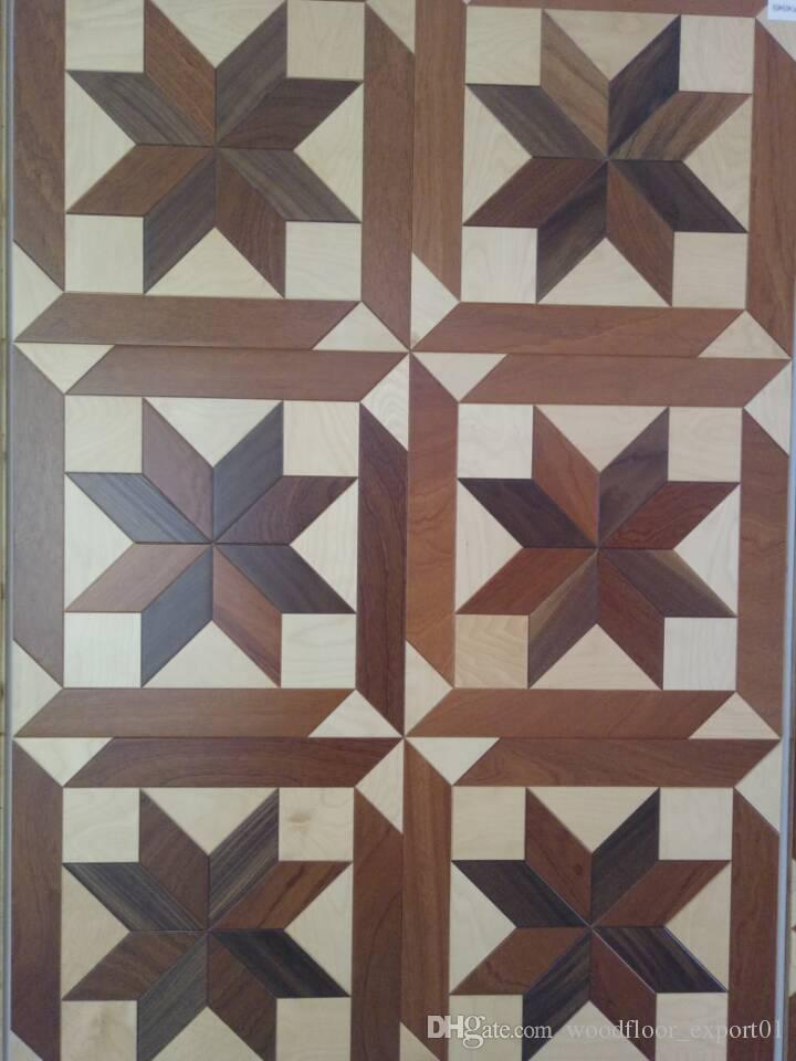2018 Art Parquet Wood Floor Carbonized Oak Herringbone Designed