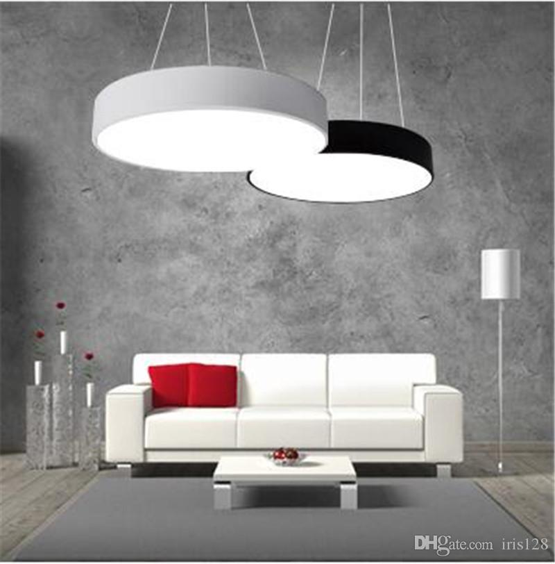 Perfect Discount Modern Minimalism Led Hanging Lights Suspension Lighting Office  Led Pendant Light Matte Metal Round Pendnat Lighting Fixtures Ac85 265v  Drop ...