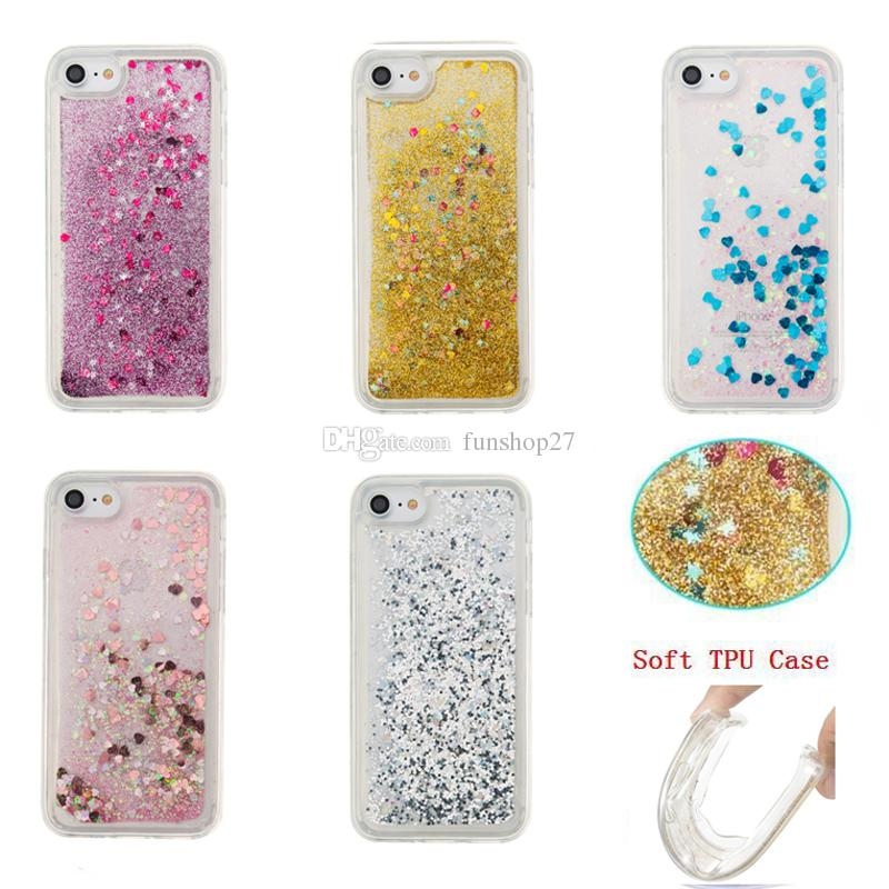For Iphone 7 7 Plus Fashion Creative Design Tpu Flowing Liquid