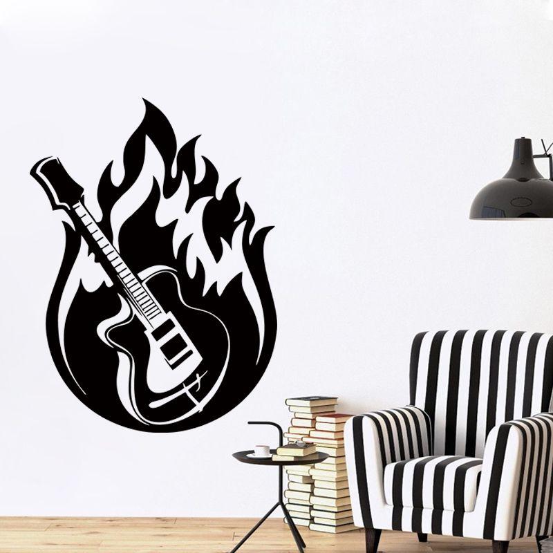 Cool Graphics Wall Sticker Vinyl Decal Guitar Music Jazz Blues - Cool vinyl decals