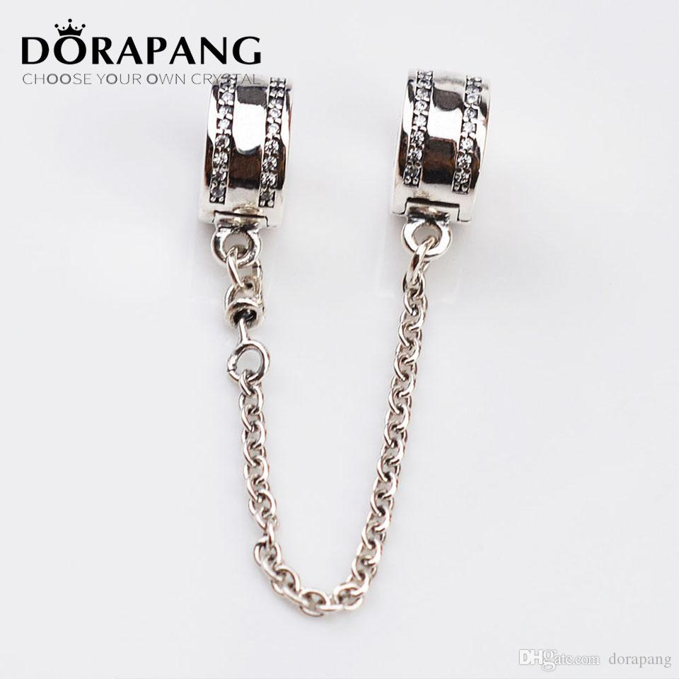 34c426b65 ... diy european charms spacer beads 5b874 italy dorapang 925 sterling  silver bead charm pave inspiration diamond safety chain beads fit european  women ...