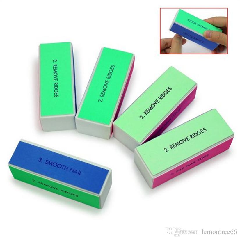 Nail Art Polisher 4 Ways Manicure Nail Art Sanding File Tips Polish Buffer Block Shiner File