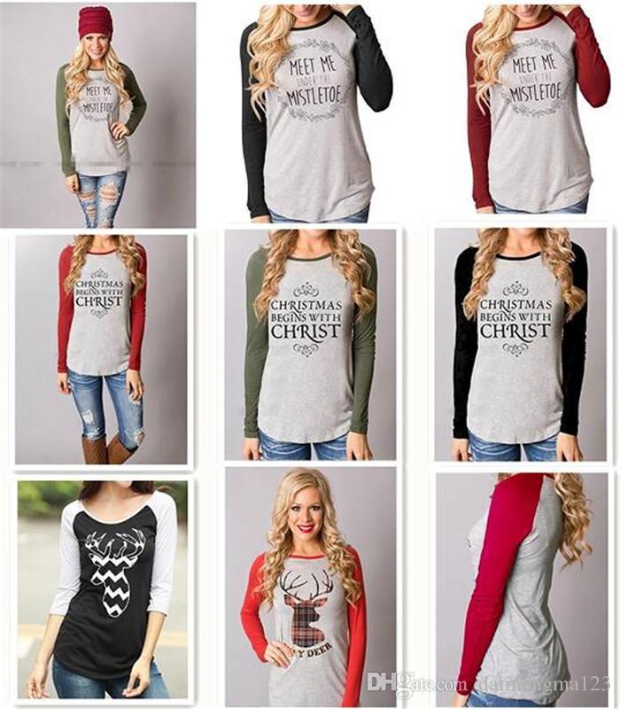 8 designs christmas jackets letter hoodies women casual coat long sleeve sweatshirts hot blouses pullover outwear jumper m097 christmas jackets christmas - Christmas Jackets