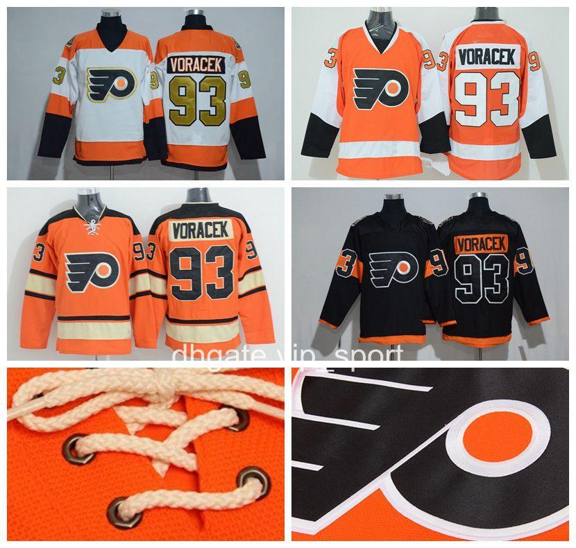 promo code ecdc8 5cf4e 2012 Winter Classic 93 Jakub Voracek Jersey Men 2017 Stadium Series  Philadelphia Flyers 50th Anniversary Jerseys Ice Hockey Oraneg White