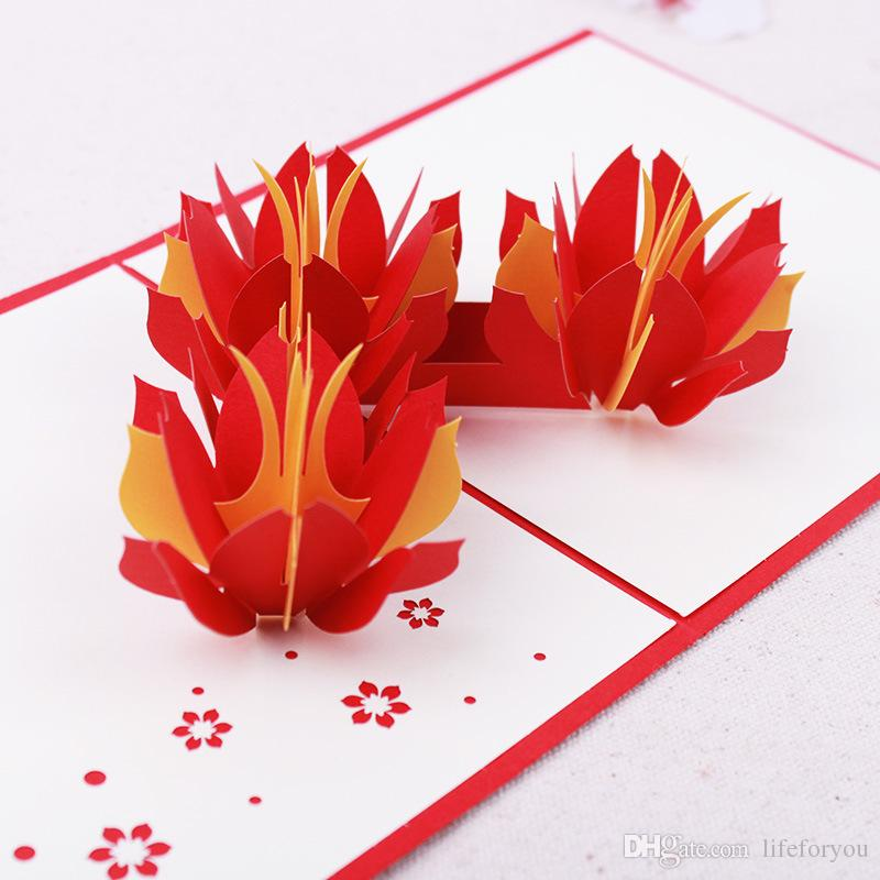 Flowers Pop Up Cards Greeting Cards gift card for Congratulation, for Special Day, Birthday or Wedding Congratulation