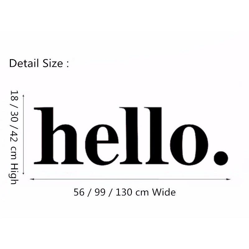 Hello Wall Decal Quotes Hello Door Decal Welcome Wall Stickers Hello Wall Quote Stickers Home Decor Simple Design Style Diy Wall Stickers Decorations Wall ...  sc 1 st  DHgate.com & Hello Wall Decal Quotes Hello Door Decal Welcome Wall Stickers Hello ...