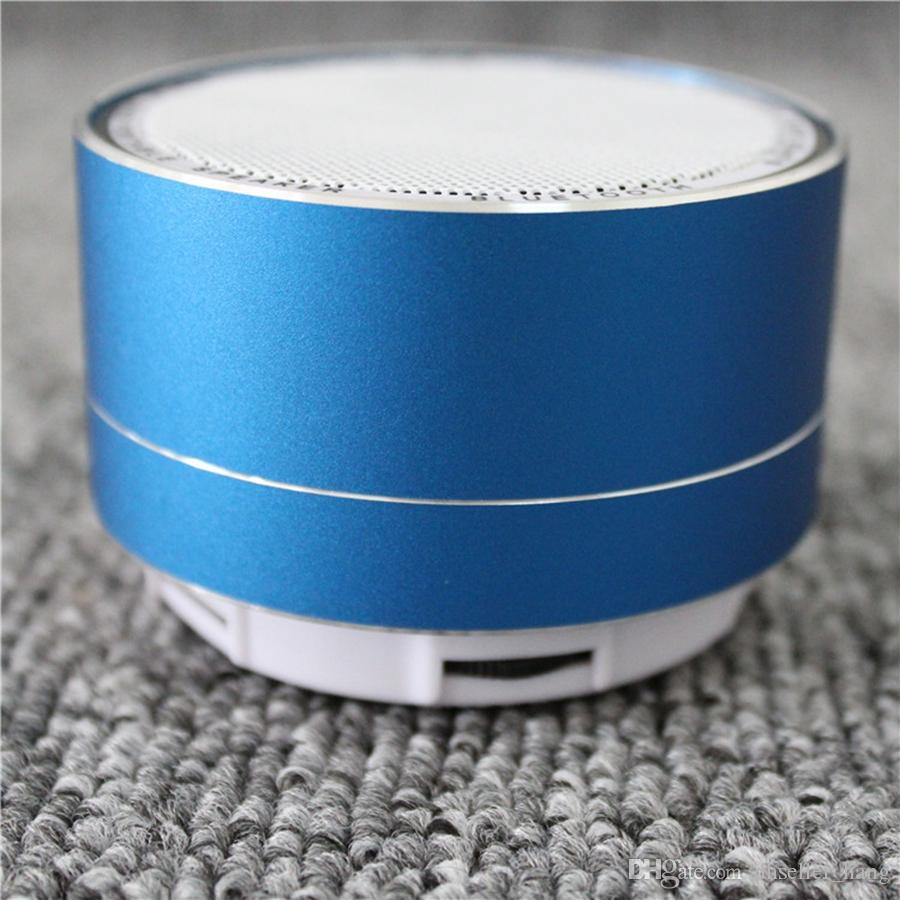 Mini Bluetooth Speaker Metal Steel Wireless Smart Hands Hifi Speaker With FM Radio Support SD Card USB Disic Shipping By DHL