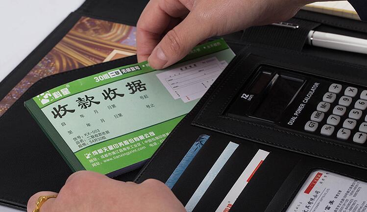 Business Notebook multifunzione con Denaro / Bill casi PU Padfolio in pelle con A4 Appunti Memo Pad organizzatore Folios