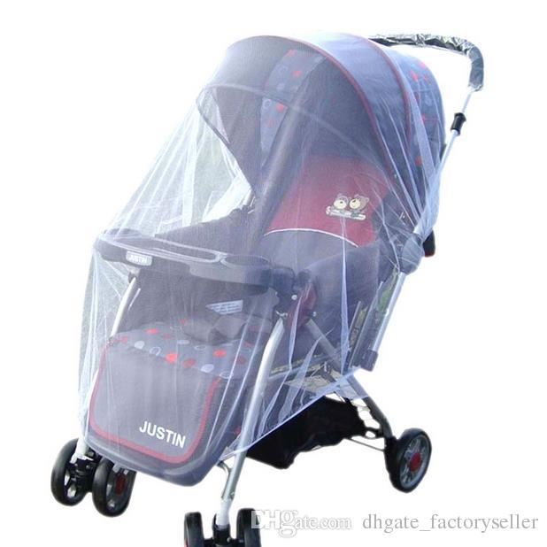 Fashion Hot White Baby Children Buggy Pram Pushchair Mosquito Net Fly Midge Insect Bug Cover Stroller Protector