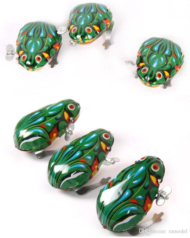 Kids Classic Tin Wind Up Clockwork Toys Jumping Frog Vintage Toy Nuova Action Figure Toy For Children