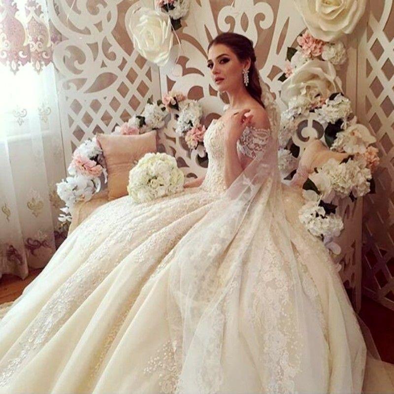 Discount vintage off shoulder wedding dresses sexy lace for Vintage off the shoulder wedding dresses