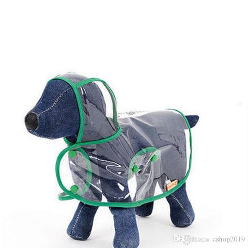 Waterproof Small Pet Dog Raincoats Waterproof Jacket Hooded Pet reain Coat Clothing Transparent