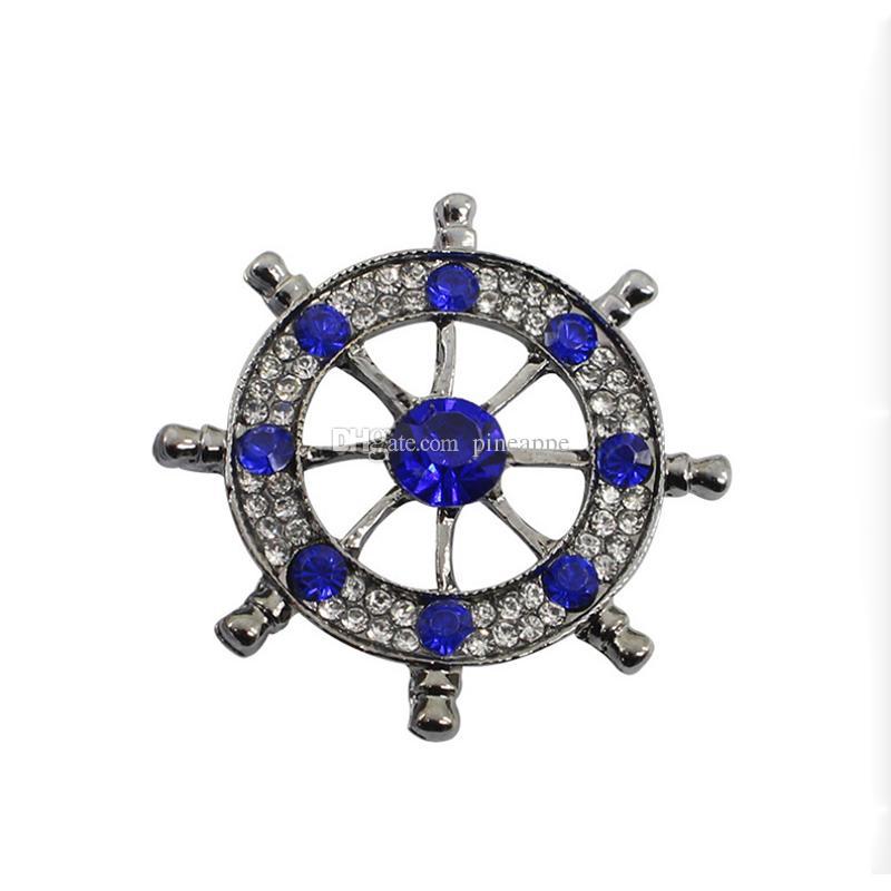 fashion brooch pin accessories fashion Retro badge sailor Rudder Inlay Drill animal alloy brooch flower lapel pin Emblem alloy men and women