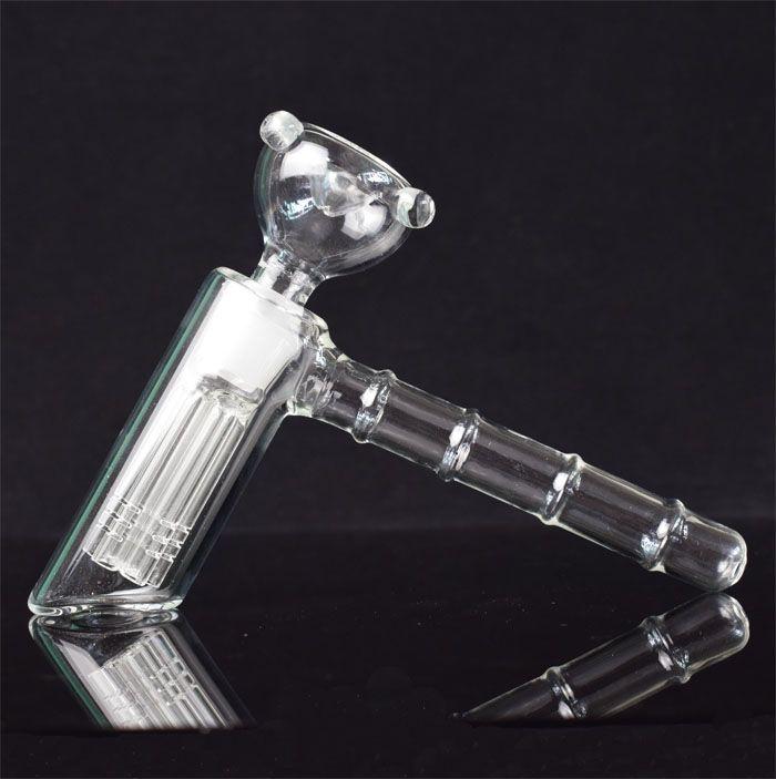 Nouveau marteau en verre 6 bras perc percuteur en verre barboteur matrice de pipe à eau pipes à fumer pipe à tabac bong bongs pomme de douche perc deux fonctions