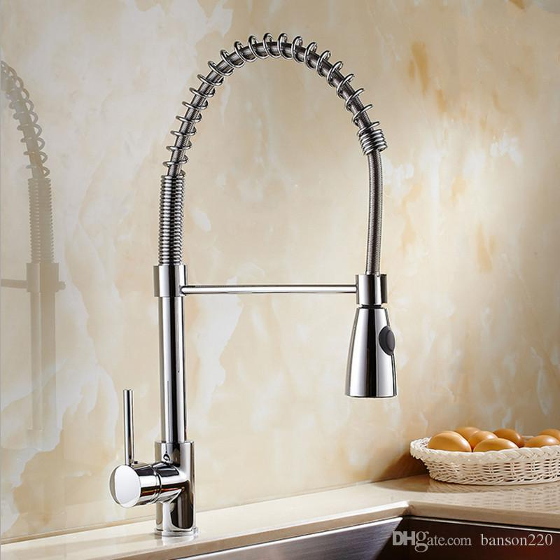 Newly Design Classic Pull out Kitchen Mixer Tap with Single Holder ...