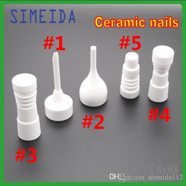 Ceramic nails 14mm 18mm Male Female Joint Vs Titanium Quartz nails for glass bong smoking accessories