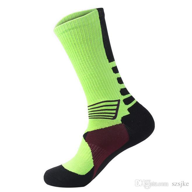 Professional sports socks Thickening towel bottom long cylinder basketball socks men and women outdoor sports socks