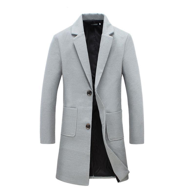 97aca8aeb905 Wholesale- Men Woolen Coat X-Long Section Autumn Casaco Masculino ...