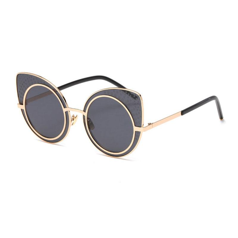 New fashion ladies round Summer sun glasses of beach European and American style cat eye sunglasses women retro bright sunglasses Wholesale