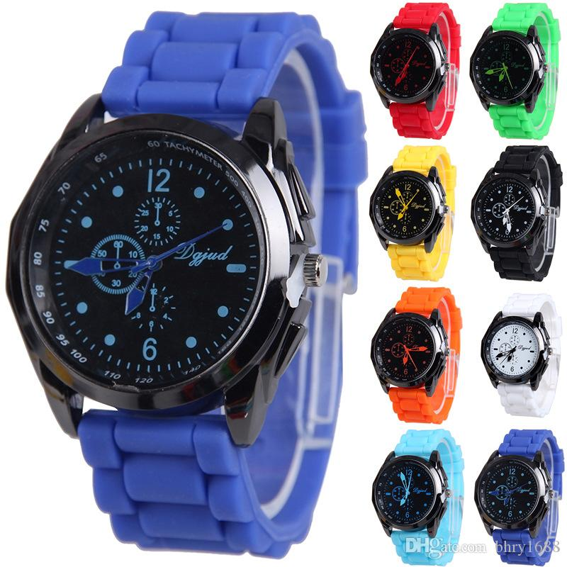 band silicone i for sport quartz watches watch sale fashion gold