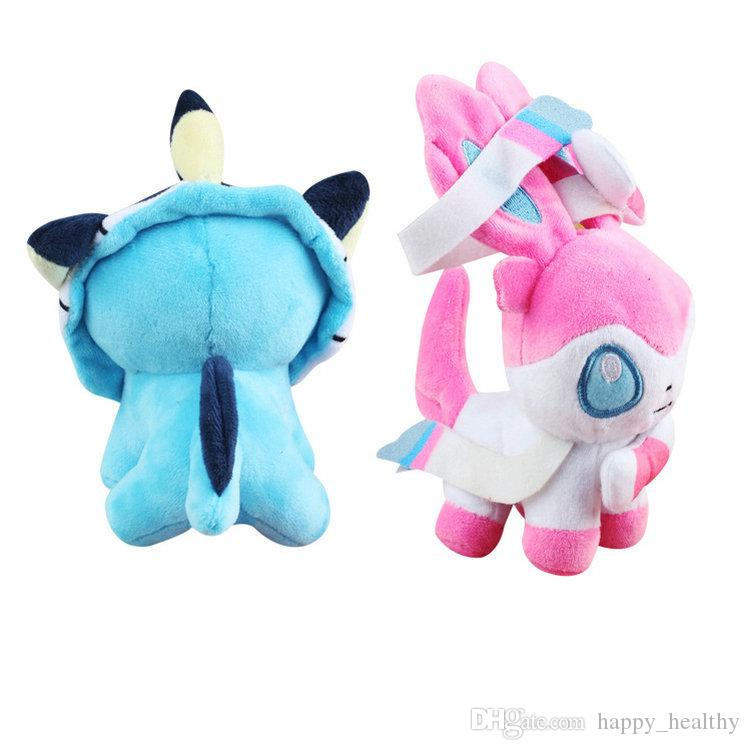 Cartoon Plush Toys Ball Stuffed Dolls Umbreon Eevee Espeon Jolteon Vaporeon Flareon Glaceon Leafeon MON toy Animal soft fur