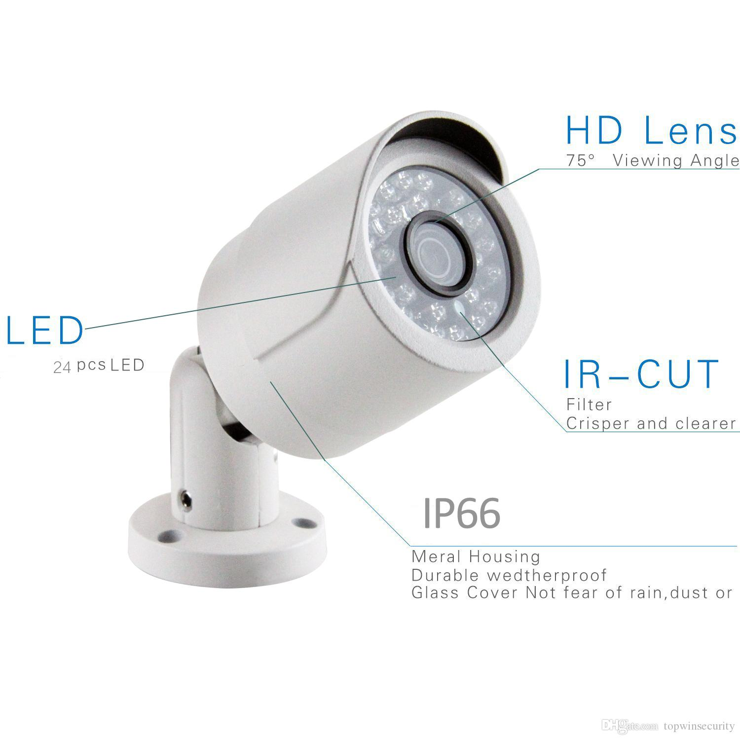 4CH HD 720P POE NVR POE 1.0MP bullet IP Network Home Security Camera CCTV System Email Alert P2P Surveillance Kit