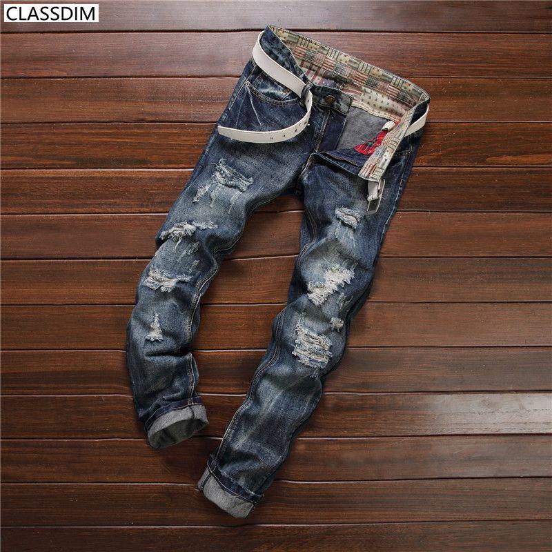 e5facb3891 Fashion Designer Mens Shorts JeansMen's Distressed Ripped Skinny ...
