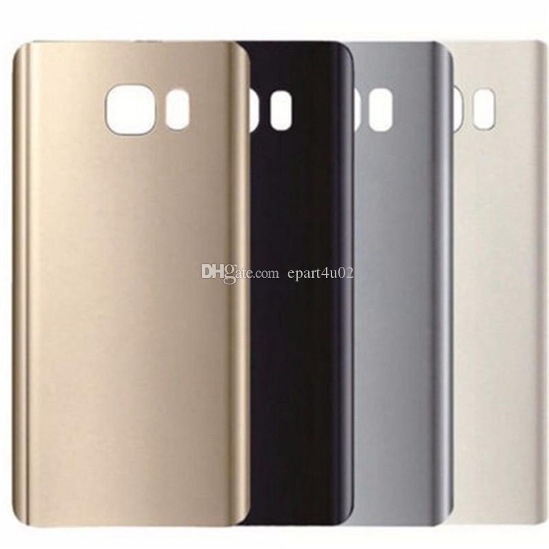 low priced 2132c 10a7a Original Note5 Back Cover Glass housing Battery Cover Glass Door Case For  Samsung Galaxy Note 5 N920 N920F Back Glass Free Shipping