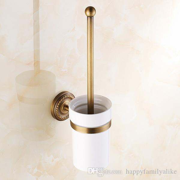 Bathroom Accessories Holder 2017 wall mounted bathroom accessories brass toilet brush holder