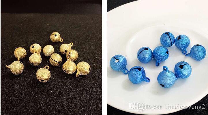 Campanas de navidad diámetro 1.5 cm pulido opaco doble color brillante laca campanas pequeñas de dibujos animados DIY campanas joyas accesorios