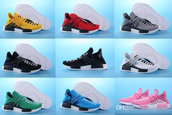 2017 high Quality Pharrell Williams x NMD HUMAN RACE Shoes In Yellow white red blue green black grey pink eur 36-47 cheap online real buy cheap countdown package 6fCG7BpcSL