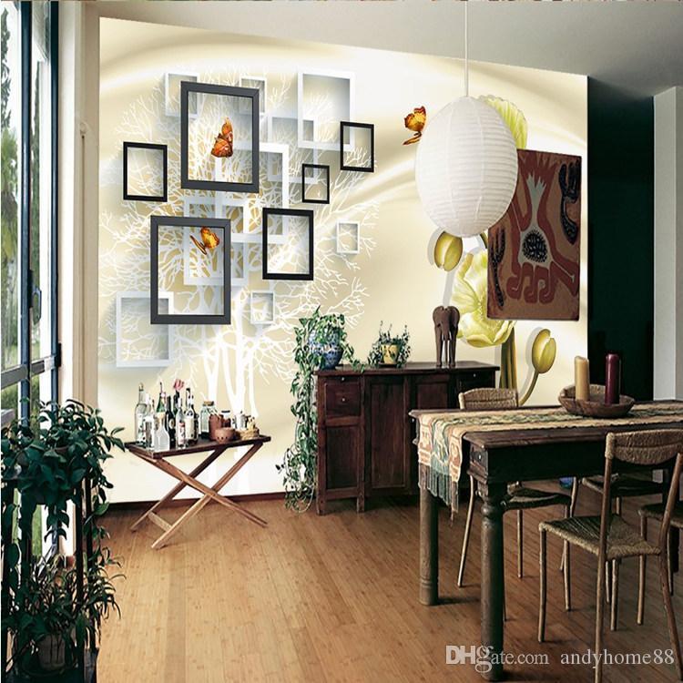 Benutzerdefinierte Fresko Tapeten 3d einfach modernen Wohnzimmer  Schlafzimmer Sofa TV Wand Dekoration edel und warm