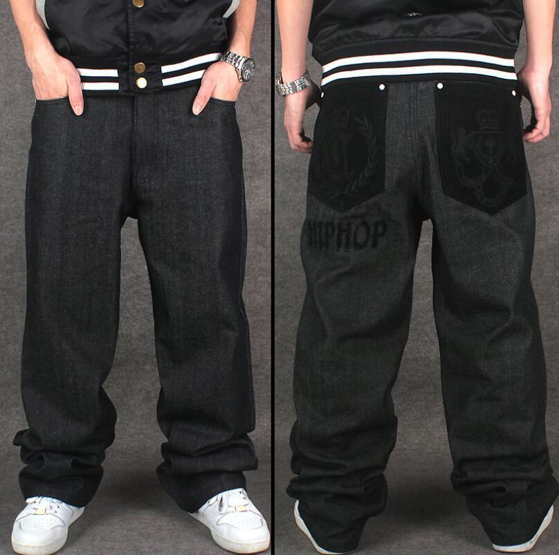 Compre Los Pantalones Vaqueros Holgados Al Por Mayor De Hip Hop Que Reúnen  Los Pantalones Vaqueros Aptos Flojos Del Patín De La Pierna Ancha Del Nuevo  ... bb359369511