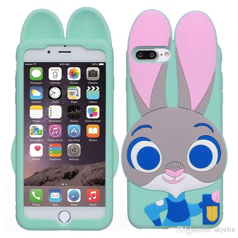 cute iphone 7 cases. cool for 3d cartoon cute judy silicone case iphone 7 plus 6 6s 5 5s se animals rabbit phone cases cover designer best