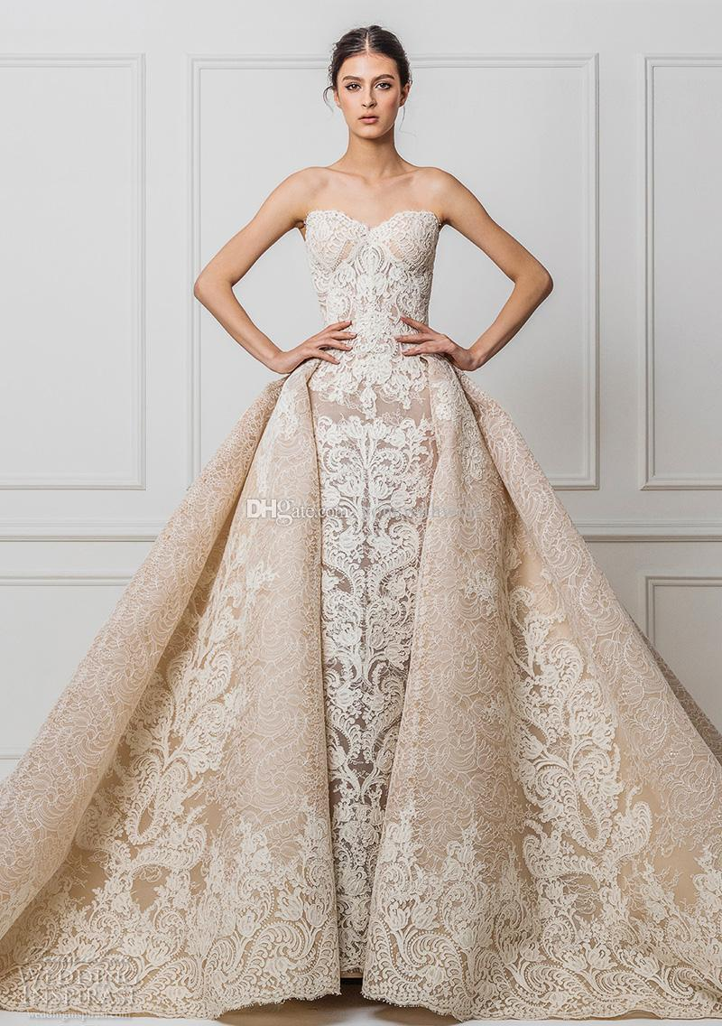 Discount Datchable Royal Train Champagne Lace Wedding Dresses 2017 Maison  Yeya Bridal Gown Sweetheart Neckline A Line Princess Wedding Gowns Gown For   Discount Datchable Royal Train Champagne Lace Wedding Dresses 2017  . A Line Princess Wedding Dresses. Home Design Ideas