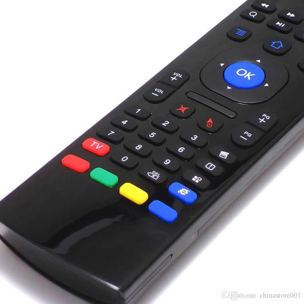 Mini Teclado Sem Fio Air Mouse Remoto G Sensor Sensores Giroscópio Combo Voz Mic MX3-M Para S905X S905 S912 MXQ TV Android CAIXA