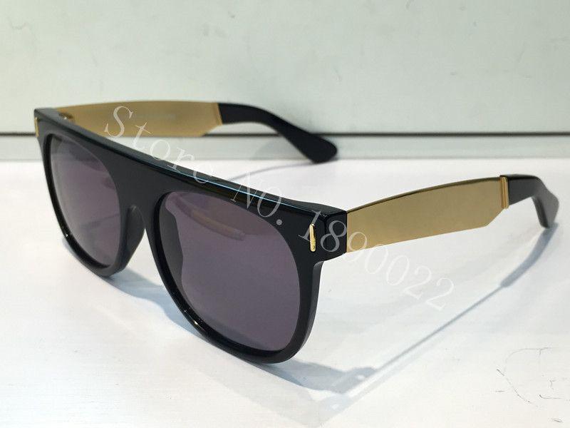 ÜCRETSIZ KARGO LÜKS güneş gözlüğü SÜPER SUNGLASSES marka tasarım retro vintage yaz Unisex tarzı güneş gözlüğü parlak kutu ile gel