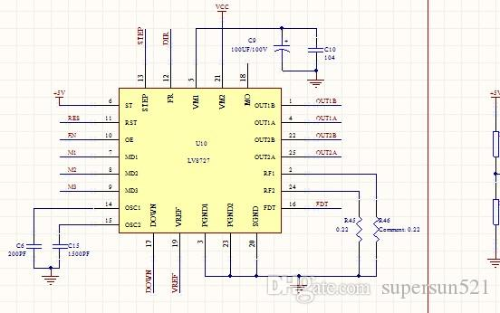 LV8727 Stepper Motor Drive Schematic Diagram Lv8727 Stepper