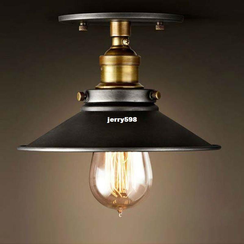 Deckenleuchten wohnzimmer klassisch  Großhandel Vintage Metall Deckenleuchten Eisen Licht Avize Abajur ...