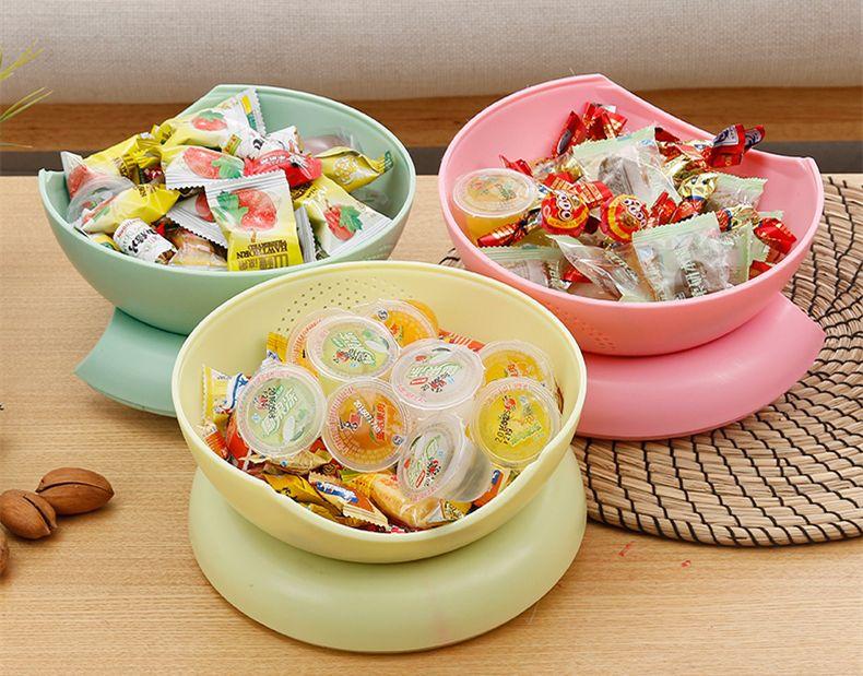 Moderne 2 en 1 Compote de Fruits Environnementaux Split Double Bol Compote Bonbons Snack Box Titulaire Plateau Plat Décoration Plat Écrou Plats